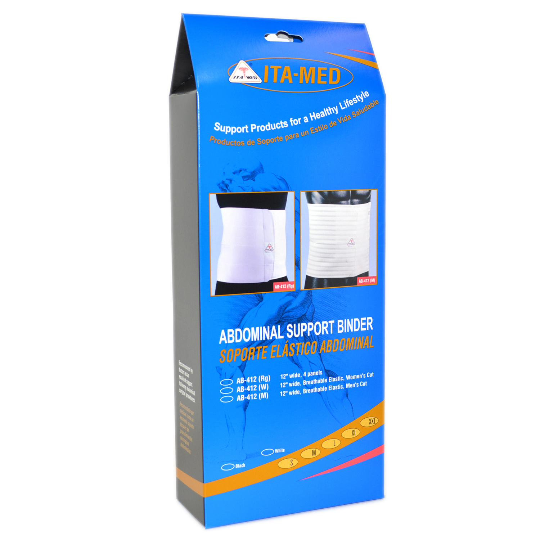 "ITA-MED Style AB-412(M) Men's Breathable Elastic Abdominal Binder (12"" wide)"