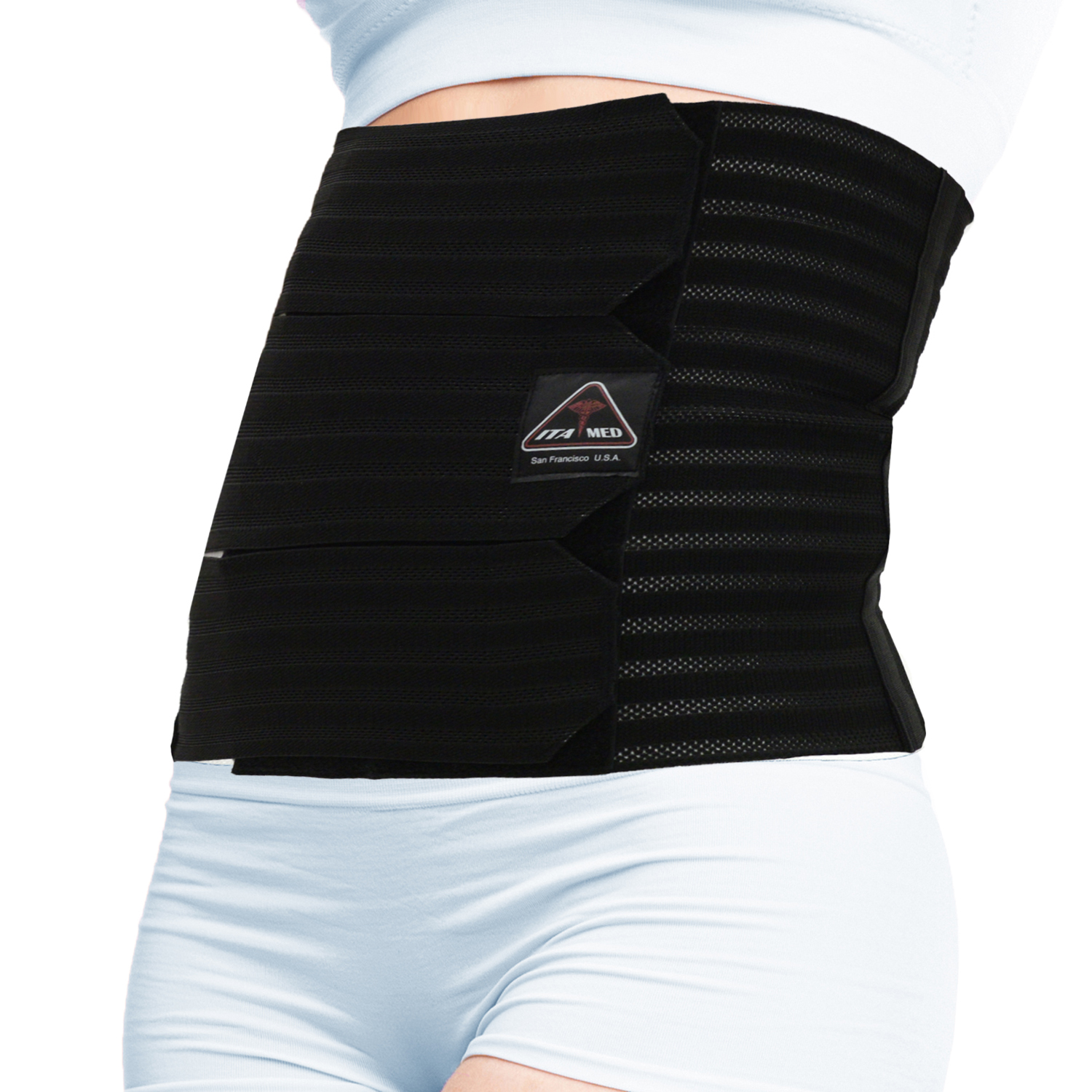 "ITA-MED Style AB-412(W) Women's Breathable Elastic Abdominal Binder (12"" wide)"