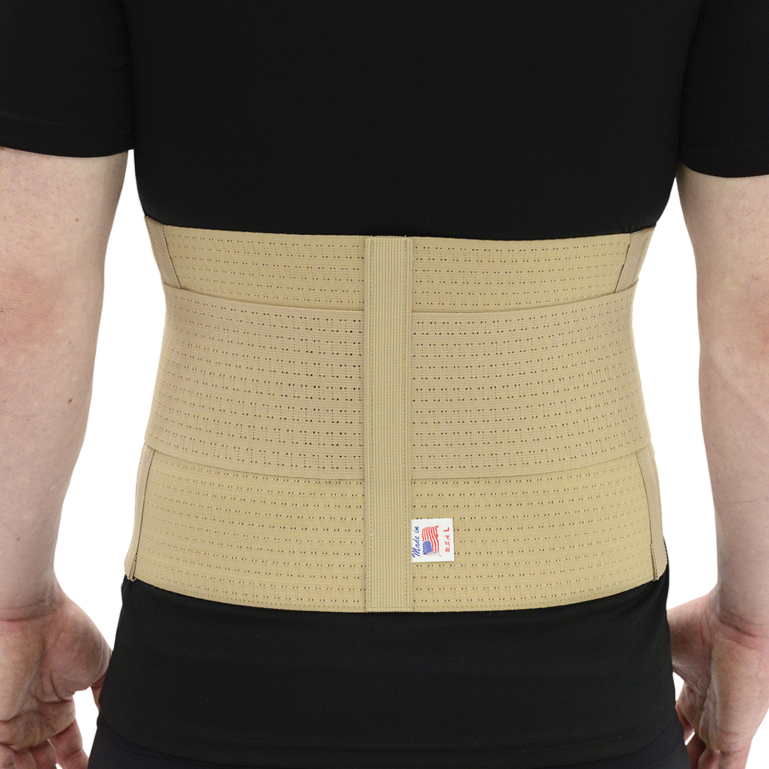 "ITA-MED Style BS-229 Elastic Duo – Adjustable Back Support (9"" wide, w/ pocket)"