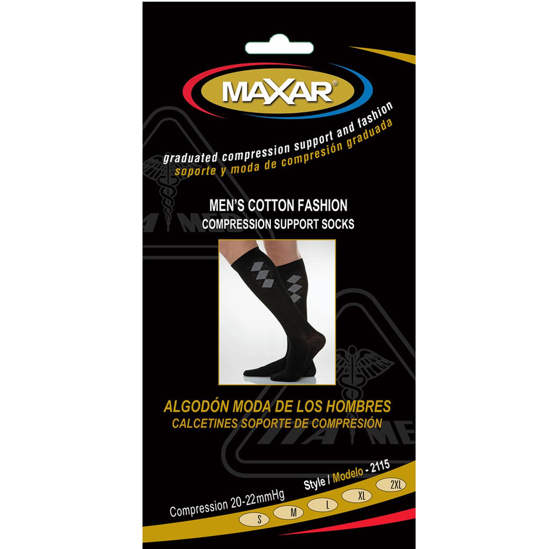 MAXAR Style CMS-2115 Men's Fashion Cotton Compression Socks