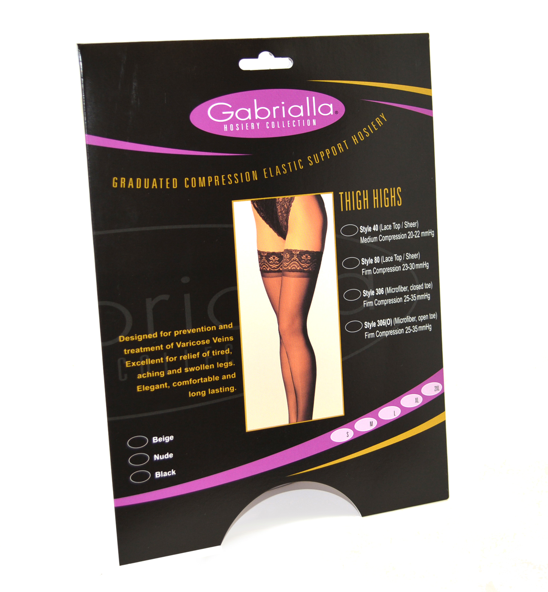 GABRIALLA Style H-306(O) Unisex Microfiber Thigh Highs Open Toe