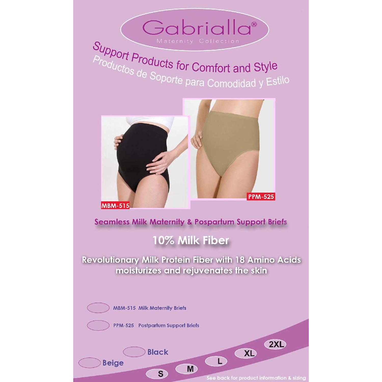 GABRIALLA Style MBM-515 Seamless Milk Fiber Maternity Support Briefs