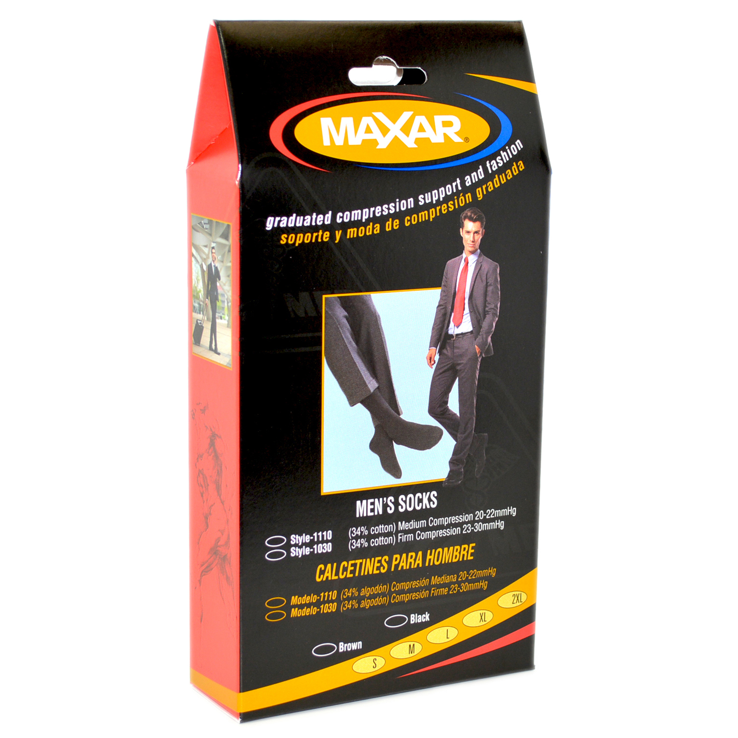 MAXAR Style H-1030 Men's Cotton Trouser Support Socks