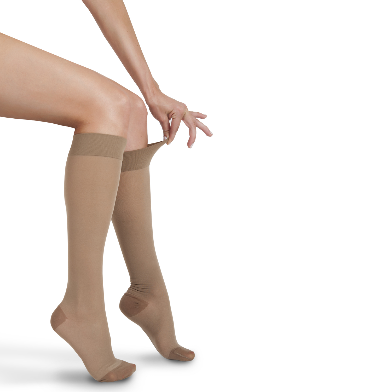 ITA-MED Style H-180 Sheer Knee Highs w/band