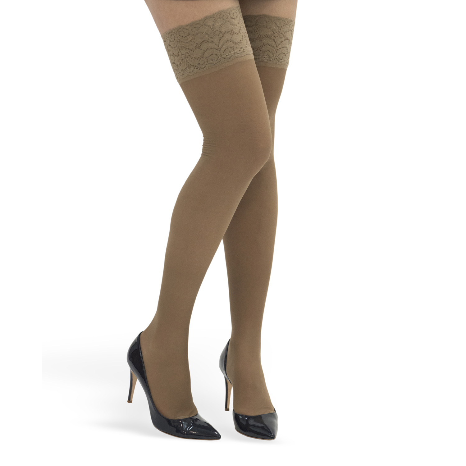 ITA-MED Style H-40 Lace Top Thigh Highs w/ Silicone Band