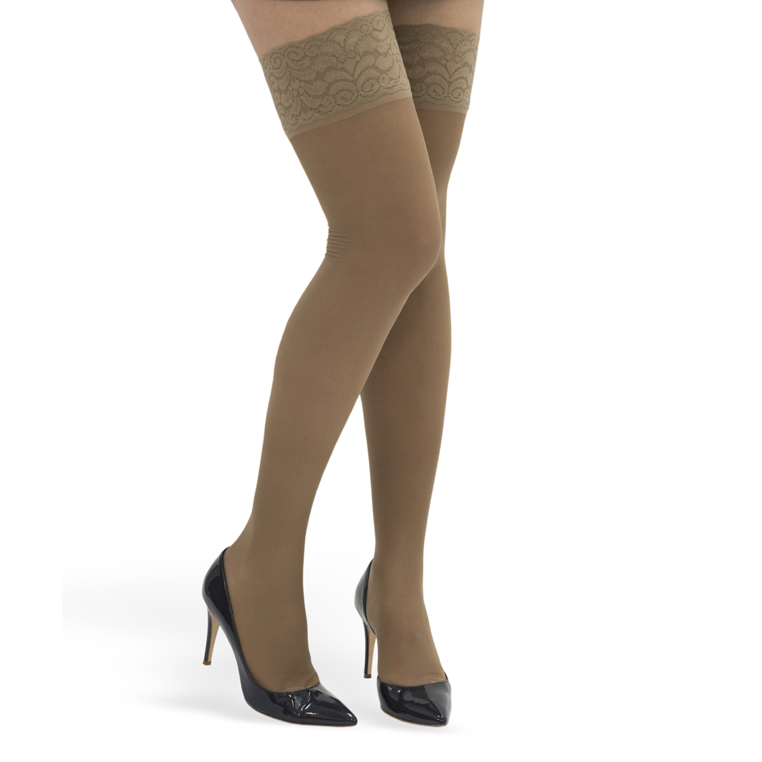 GABRIALLA Style H-80 Lace Top Sheer Thigh Highs