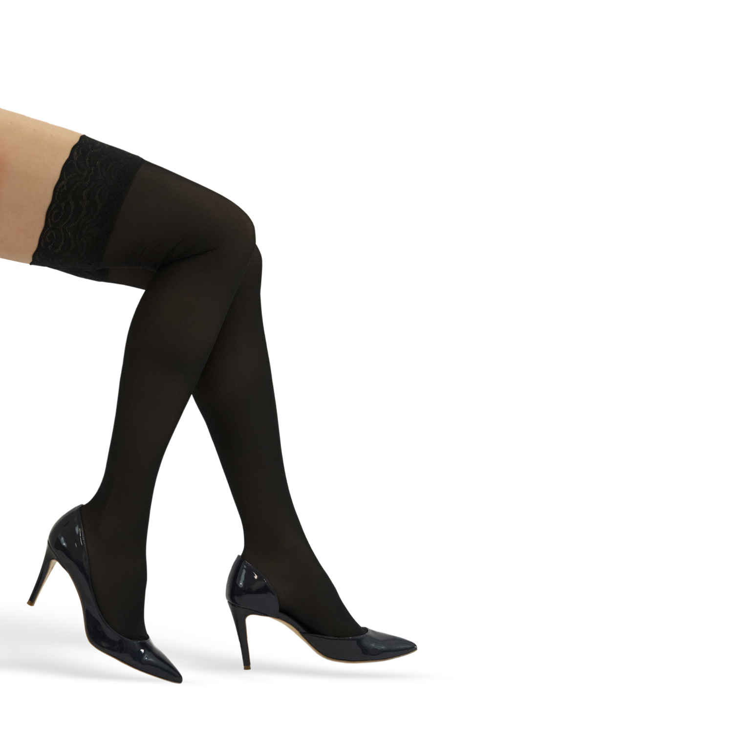 ITA-MED Style H-80 Lace Top Sheer Thigh Highs