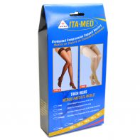 ITA-MED Style H-306 Unisex Microfiber Thigh Highs Closed Toe