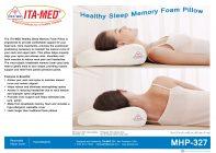 ITA-MED Style MHP-327 Memory Foam Heathly Sleep Pillow