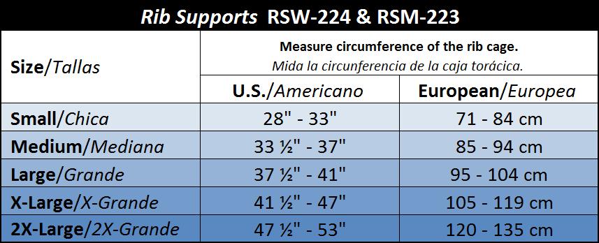 ITA-MED Style RSM-223 Elastic Rib Support for Men