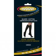 MAXAR Style SUS-315 Silver/Cotton Unisex Compression Support Socks